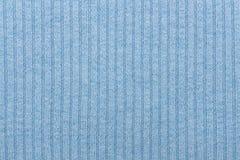Fond de tricotage rayé bleu de tissu Images stock