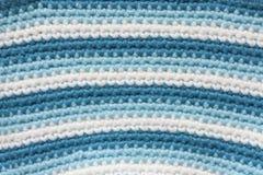 Fond de tricotage rayé de tissu Photos stock