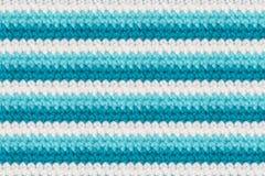 Fond de tricotage rayé de tissu Photographie stock libre de droits