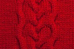 Fond de tricotage rouge images libres de droits