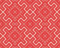 Fond de tricotage sans couture Ornement monochrome nordique abstrait de chandail Photo stock