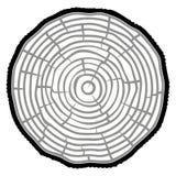 Fond de tronc d'arbre de coupe de scie d'anneaux d'arbre Illustration de vecteur illustration libre de droits