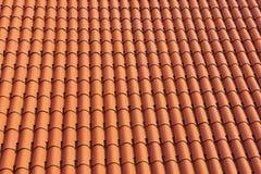 Fond de tuile de toit de Terracota Image libre de droits