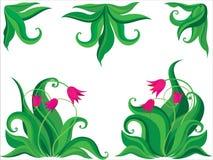 Fond de tulipes de Ddecorative Images libres de droits