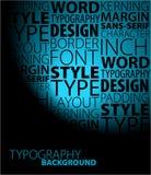 Fond de typographie Photo libre de droits