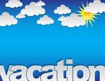 Fond de vacances Images stock