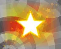 Fond de vacances avec des étoiles Images libres de droits