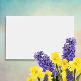 Fond de vacances avec des fleurs de ressort et endroit vide pour vous Image stock