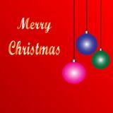 Fond de vacances avec l'ornement de Noël Photos libres de droits