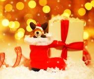 Fond de vacances avec la décoration mignonne de gaine de Santa Photo libre de droits