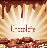 Fond de vacances avec la sucrerie de chocolat illustration de vecteur