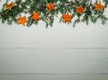 Fond de vacances avec les décorations fabriquées à la main Photographie stock