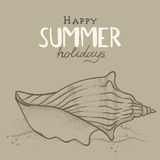 Fond de vacances d'été Images stock
