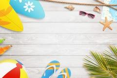 Fond de vacances d'été avec l'espace libre pour le texte Images libres de droits