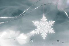 Fond de vacances de flocon de neige photo stock