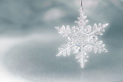 Fond de vacances de flocon de neige Photo libre de droits