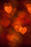 Fond de vacances de forme de coeur de Brown photo stock