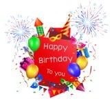 Fond de vacances de joyeux anniversaire Photo stock