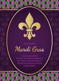 Fond de vacances de Mardi Gras Scintillement d'or Fleur texturisé de lis Photo libre de droits