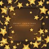 Fond de vacances de Joyeux Noël Images stock