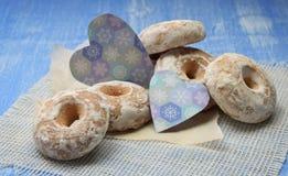 Fond de vacances de Noël avec des biscuits de pain d'épice, Christma Image stock