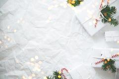 Fond de vacances de Noël et de nouvelle année Carte de voeux de Noël Vacances d'hiver photo stock