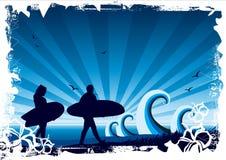 Fond de vague déferlante illustration de vecteur