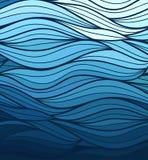 Fond de vague de vecteur des lignes tirées par la main de griffonnage Image libre de droits