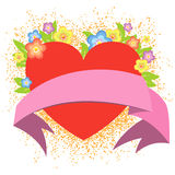 Fond de Valentine Photos stock