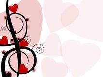 Fond de Valentine Photographie stock