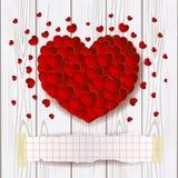 Fond de Valentine avec l'espace rouge de coeur et de copie illustration stock