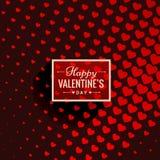 Fond de Valentine avec la conception de vecteur de coeurs Photographie stock libre de droits