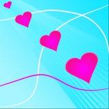 Fond de Valentine avec le coeur Photos stock