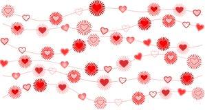 Fond de Valentine avec le coeur illustration de vecteur