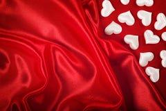 Fond de Valentine - coeurs blancs Photographie stock