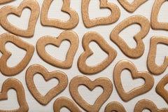Fond de Valentine - coeurs d'or Photos libres de droits