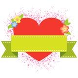 Fond de valentine de bannière Images libres de droits