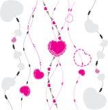 Fond de valentine de vecteur illustration de vecteur