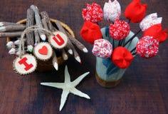 Fond de Valentine, le 14 février, je t'aime Images stock
