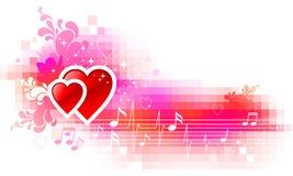 Fond de Valentines avec des coeurs Photo libre de droits