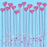 Fond de Valentines avec des coeurs Photos stock