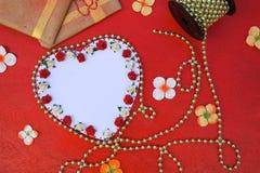 Fond de valentines avec l'espace libre pour un texte Photo libre de droits