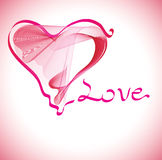 Fond de Valentines avec le coeur Images stock