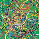 Fond de vecteur avec déplacer les lignes colorées Fond lumineux des lignes de courbes illustration stock