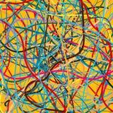 Fond de vecteur avec déplacer les lignes colorées Fond lumineux des lignes de courbes illustration libre de droits