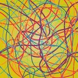 Fond de vecteur avec déplacer les lignes colorées Lignes lumineuses de courbes illustration stock