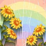 Fond de vecteur avec des fleurs Image libre de droits