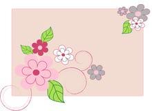 Fond de vecteur avec des fleurs de source Image stock