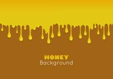 Fond de vecteur avec du miel débordant illustration de vecteur