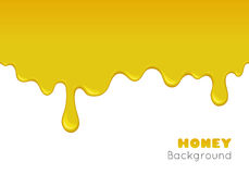 Fond de vecteur avec du miel débordant illustration stock